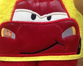 Race Car Hooded Towel