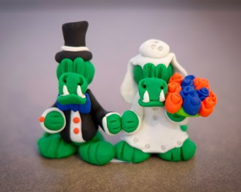 Wedding Gator Cake Topper