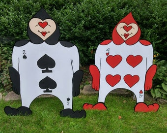 FOAMBOARD - 2 CARD SOLDIERS - Inspired by Alice in Wonderland - Mad Hatter Tea Party - Croquet Set - Large Party Props & Event Decoration