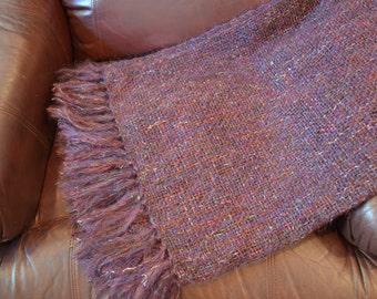 Purple Handwoven Mohair Throw - Throw Blanket