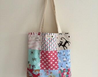 Cat Patchwork Tote Bag