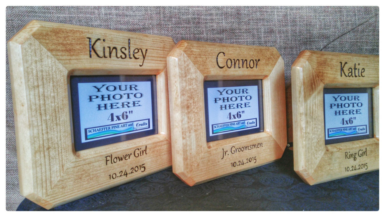 Engraved Wooden Wedding Photo Frames : Wedding Frames Engraved Wood Frame 4x6 Wood Frame Custom