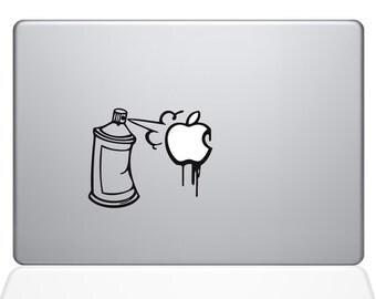 Graffiti Apple Spray Can Macbook Decal (1637-MAC)