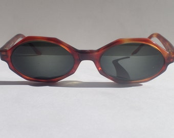 SOCA Malissa Sunglasses Frame Only Rx Lens Octagon Front Tortoise Frame Italy