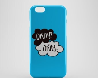 Funky Blue 'Okay Okay' Phone case,  iPhone X Case, iPhone 8 case,  iPhone 6s,  iPhone 7 Plus, IPhone SE, Galaxy S8 case, Phone cover, SS148a