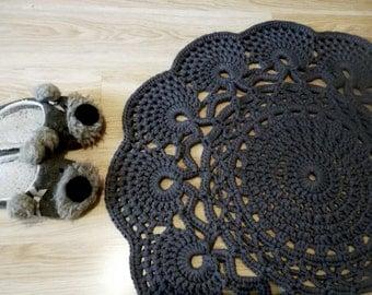 Crochet Rug, Crochet Rug, Pattern Doily, Rug Round, Crochet Rug, Handmade