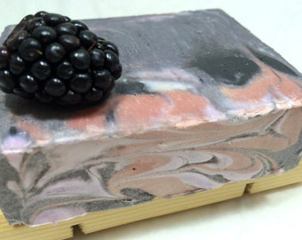Blackberry Sage Soap - handmade soap, soap gift, sage soap, blackberry soap, fruit soap, berry soap, fall soap, sage soap, sage blackberry