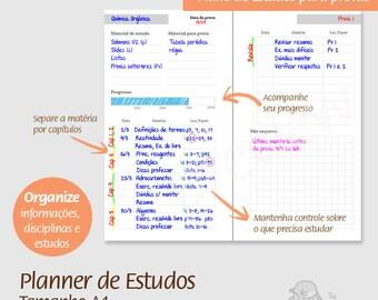 A4 - PT - Planner de Estudos - PDF, imprimível