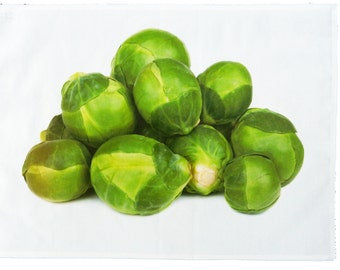 Brussel Sprouts - Large Cotton Tea Towel