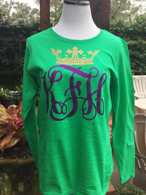 Mardi Gras Large Monogram Shirt - Adult Sizes