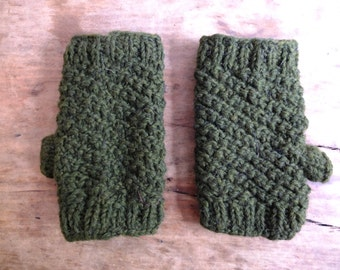 Yak Wool Handwarmers / Fingerless Gloves