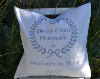 German Grain Sack Pillow Cover 18x18, 20x20 or 24x24