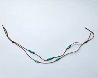 Turquoise Anklet or Choker