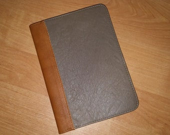 100% Real Leather Cover for Notebook A5 Diary Organizers Planner Journal Cover:Refillable