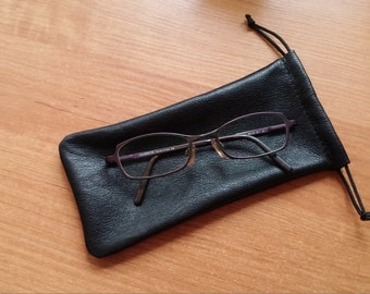 100% Real Leather Pouch Purse Bags SUNGLASSES GLASSES