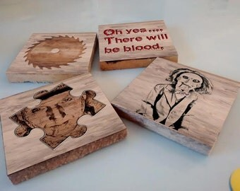 Saw Horror Movie Coasters Set of 4