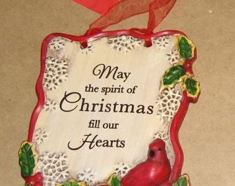 """Vintage 2010 Burton + Burton Christmas Plaque, Christmas Sign, Christmas Decor, 5"""" x 4"""""""