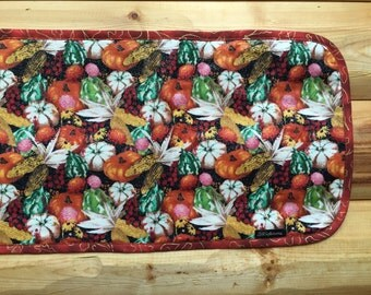 Unique Quilted Double Sided Table Runner for Thanksgiving Festivity Holiday