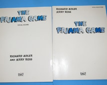 The Pajama Game Vocal Score TSF0060 and Selections TSF0061A by Richard Adler and Jerry Ross