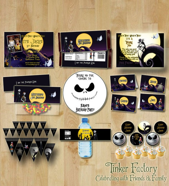 Nightmare Before Christmas Birthday Party: The Nightmare Before Christmas Happy Birthday Party Set