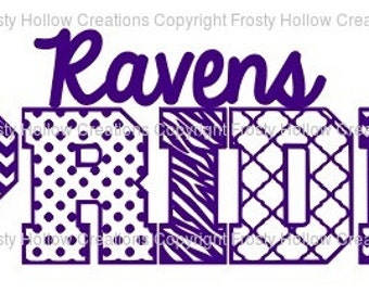 Ravens Pride cutting file SVG instant download PERSONAL USE only!