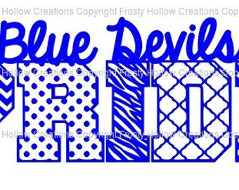 Blue Devils Pride cutting file SVG instant download PERSONAL USE only!