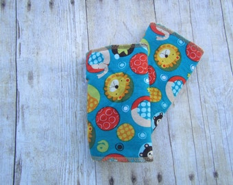 Blue Animal Zoo Drool Pads for baby carrier (including Ergo, Tula, Lillebaby and more)