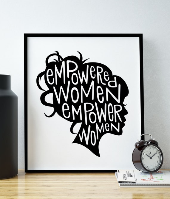 Feminist Art Print Feminist Quote Girl Boss Empowered