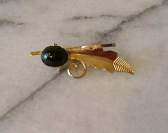 Vintage 12K GF Art Decco Leaf Pin, Brooch, Stick Pin, Scarf Pin. Hat Pin