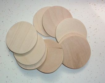 "3"" Wooden Circles, Wood Circle Shape, Ornaments, Discs, Wood Supplies, Wood Craft, Craft Supplies, Christmas, Holidays  - Qty 20"