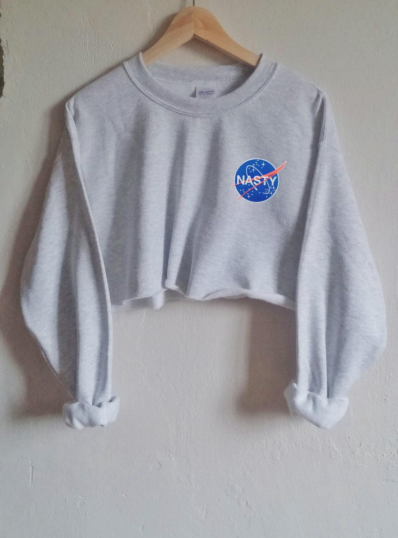 Nasty NASA Tumblr Patch Grunge Sweater Indie Blogger