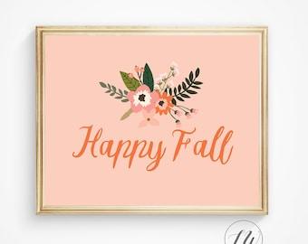 Fall wall decor, Fall wall art, Fall decor, Autumn decor, Thanksgiving sign, Autumn art, Autumn wall art, Fall gift, Fall print, fall sign