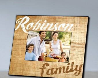 Personalized Family Wooden 8x10 Frame
