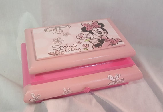Minnie mouse spring bling girl 39 s custom by for Minnie mouse jewelry box