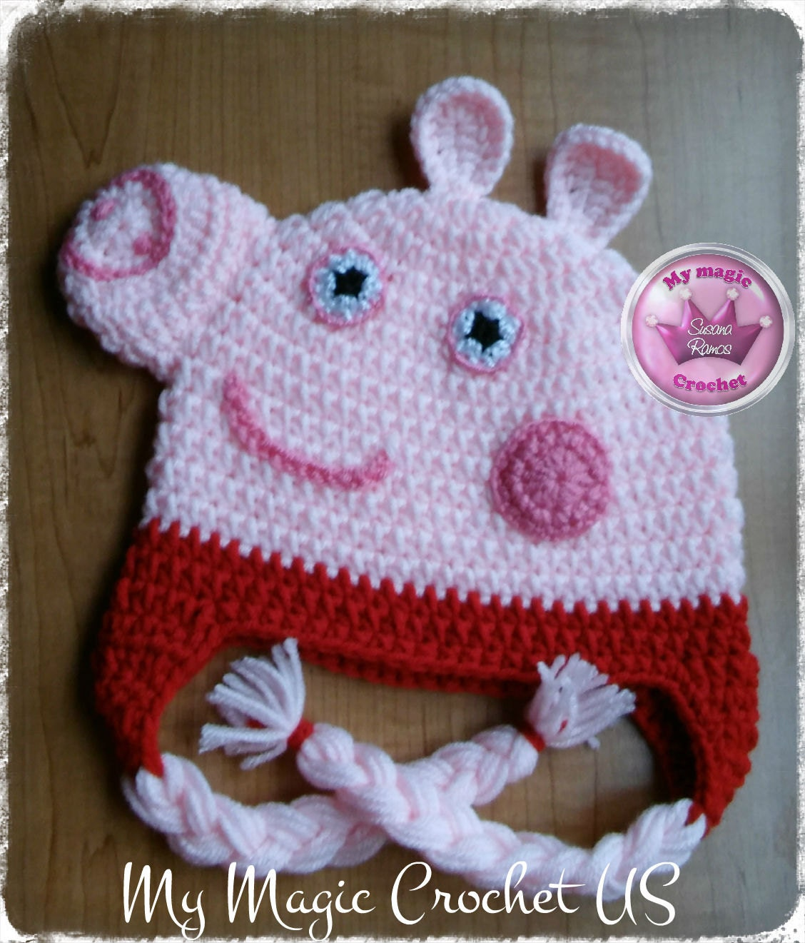 a769558d8bf Peppa Pig George Pig Mummy Pig Daddy Pig Crochet Hat Made