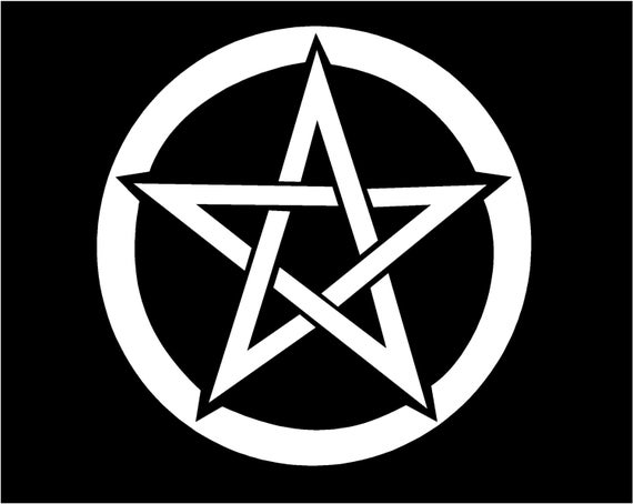 Pentacle Pentagram Vinyl Decal Witch Wiccan Pagan Window