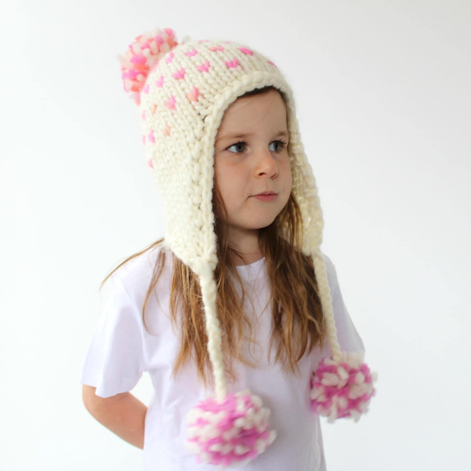 Knitted Earflap Hat Pattern PDF Knitting by HelloDollyKnitting