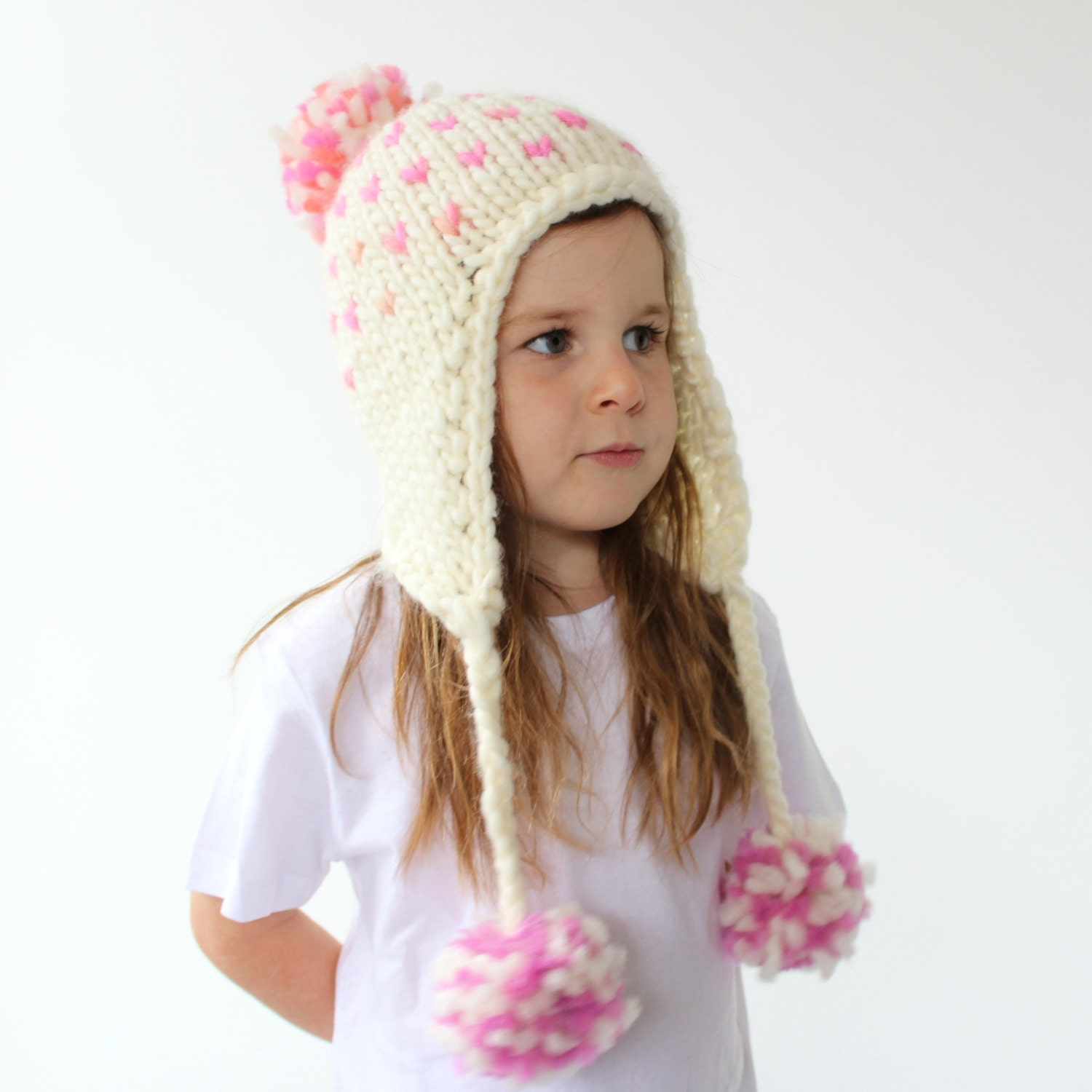 Earflap Hat Knitting Pattern Bulky Yarn : Knitted Earflap Hat Pattern PDF Knitting by HelloDollyKnitting