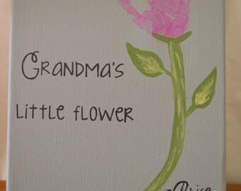 Flower Handprint - Canvas Handprint Kit