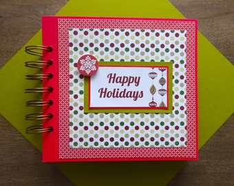 Christmas Scrapbook Album, Pre-made Christmas Scrapbook, Christmas Mini Album