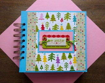 Christmas Scrapbook Album, Pre-made Christmas Scrapbook, Christmas Mini Album