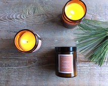Soy Candle NYC STYLE - Forest Aromatherapy, Eucalyptus, Lemon & Cedarwood Essential Oils, Spa Treatment