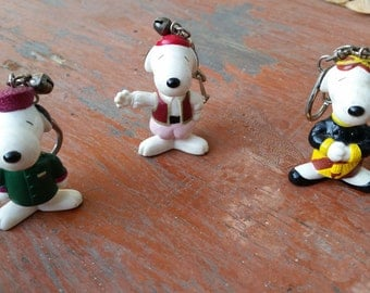 Snoopy Keychains Trio With Small Bells