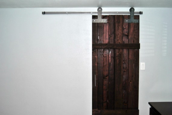 sliding barn door hardware kit t strap style with track door With barn door hardware clearance