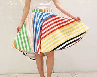 Knee length asymmetrical skirt
