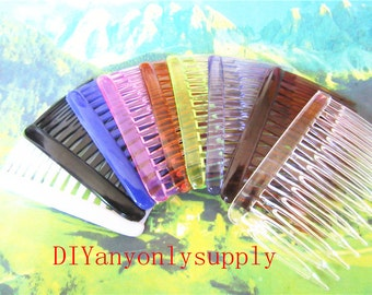 10pieces assorted 46x70mm(14 teeth) hair comb findings