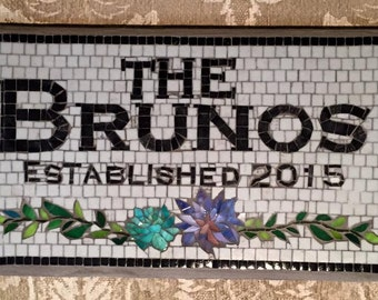 Personalized House Name Sign - Wedding Gift Welcome Sign, Personalized Wedding Gift