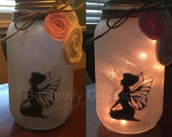 Fairy light, fairy mason jar light, fairy night light