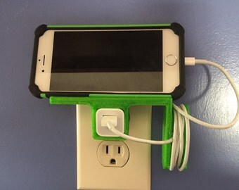 Iphone charging station horizontal - 3D printed pick your color