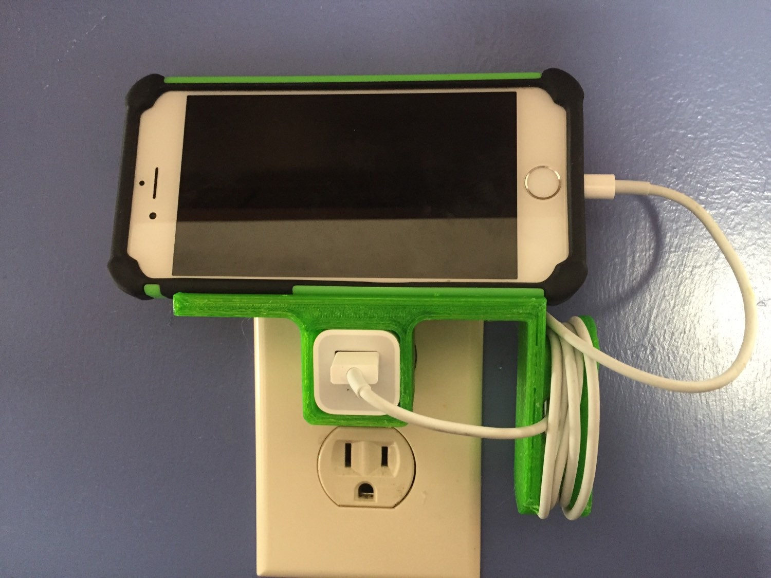 Iphone Charging Station Horizontal 3d Printed Pick Your